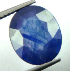 Buy Lab Certified 5.70cts{6.33 Ratti}transparent Natural Blue Sapphire/neelam online