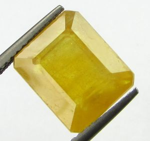 Buy Lab Certified 7.83cts Natural Yellow Sapphire/pukhraj online