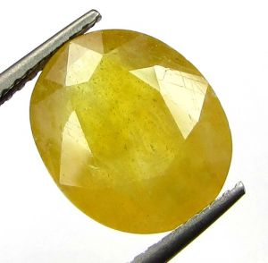 Buy Lab Certified 5.12cts Natural Yellow Sapphire/pukhraj online
