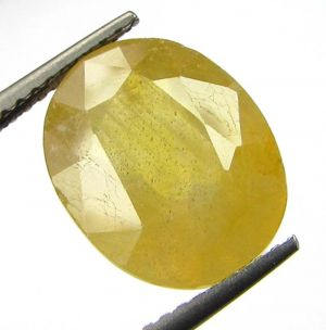 Buy Lab Certified 7.11cts Natural Yellow Sapphire/pukhraj online