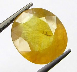 Buy Lab Certified6.28cts Natural Yellow Sapphire/pukhraj online