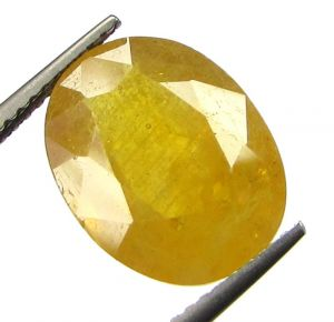 Buy Lab Certified 7.65cts Natural Yellow Sapphire/pukhraj online