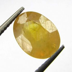 Buy Lab Certified 4.25cts Natural Yellow Sapphire/pukhraj online