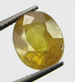 Buy Lab Certified 6.12cts Natural Transparent Yellow Sapphire/pukhraj online