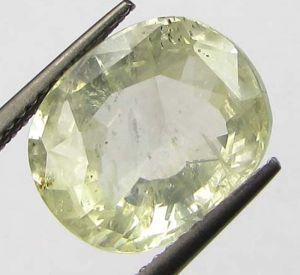Buy Certfd 8.10ct Natural Ceylon Yellow Sapphire/pukhr online