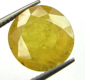 Buy Lab Certified 9.09cts Natural Yellow Sapphire/pukhraj online