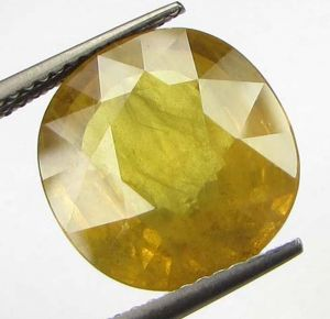Buy Lab Certified Top Grade 8.14cts Natural Yellow Sapphire/pukhraj online