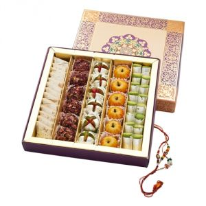 Buy Punjabi Ghasitaram 2017 Rakhi Special Assorted Dryfruit Sweet Box With Rakhi online