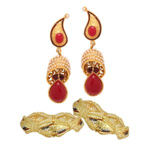 Vendee Fashion Traditional Combo Offer Gold Plated Jewelry (1463)