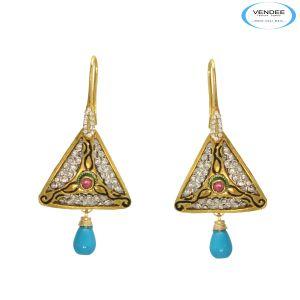 Buy Vendee Beautiful Diamond Earrings Jewelry online