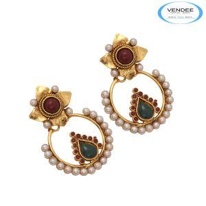Buy Vendee Fashion Beautiful Copper Earrings online