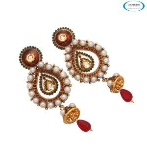 Buy Vendee Ethnic Long Earrings online