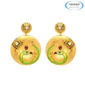 Buy Vendee Gold Fashion Earring online