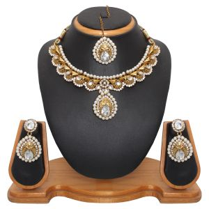 Buy Vendee Fashion Glimmer Royal Style Necklace Set online