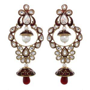 Buy Vendee Fashion Princess Wear Earrings (8381) online