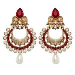 Buy Vendee Fashion Pearl Studded Earrings (8390) online