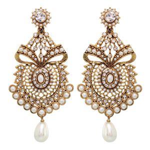 Buy Vendee Fashion Textured Metal Earrings (8404) online