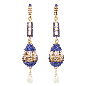 Buy Vendee Fashion Blue Stone Earrings online