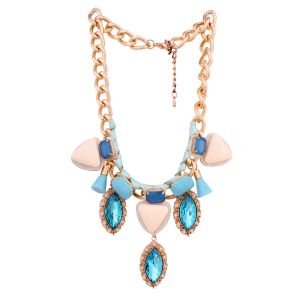 Buy Vendee Fashion golden girl statement necklace online