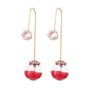 Buy Vendee Fashion Unique Red Dangle Earrings online