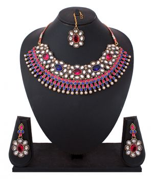 Buy Eye-catching Indian Traditional Bridal Necklace Set online