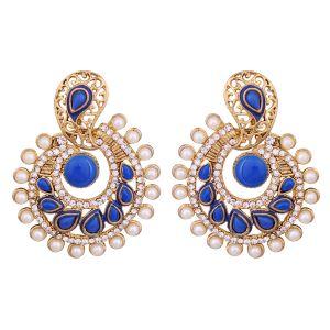 Buy Vendee Elegent Fashion Neon Royal Blue Dangle Alloy Zinc Earrings For Wome online