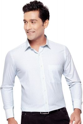 Buy Orchid Mens Formal Office Wear Shirt Firozi(line) By Corporate Club (code - Orchid 02) online