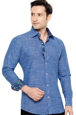 1695073cc19 Party Wear Shirt Royal Blue By Corporate Club