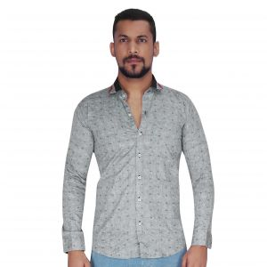 Buy Black With White & Black Random Print Shirt By Corporate Club (code - Cc - Pp137 - 07) online