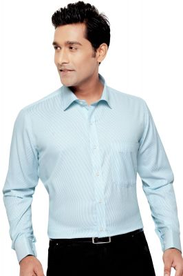 Buy Euro Mens Formal Office Wear Shirt Firozi By Corporate Club (code - Euro 05) online
