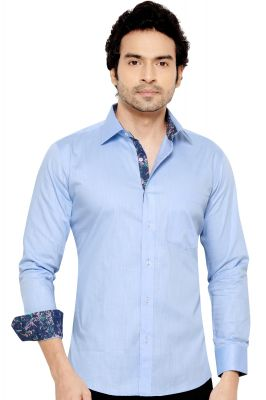 Buy Pronto Semi Formal Shirt Blue By Corporate Club (code - Pronto 02) online