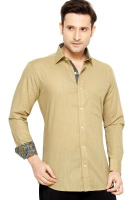 Buy Telco Semi Formal Shirt Beige By Corporate Club online