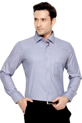 Buy Mens Formal Office Wear Shirt Greyish Blue By Corporate Club online