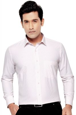 Buy Orchid Mens Formal Office Wear Shirt Orange(line) By Corporate Club (code - Orchid 03) online