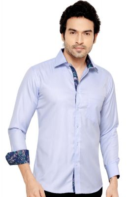 Buy Mens Formal Office Wear Shirt Blue By Corporate Club online