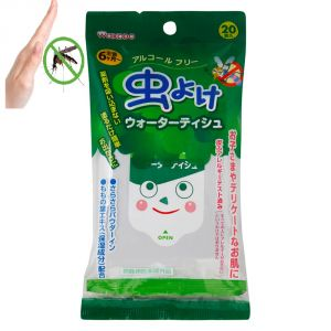 Buy Insect Repellent Wet Wipes/tissues By Wakodo (20 PCs Pack) - Made In Japan online