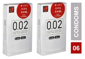 Buy Ultra-sensitive Thin Condom By Okamoto 002 0.02 - L Size - Pack Of 2 (code - Citd013) online