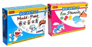 Buy Doraemon Do-it-yourself Mould And Paint And Fun Stencils For Kids By Buddyz online