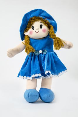 Buy Baby Doll Girl Dolly Velvet Blue Color by Lovely Toys online