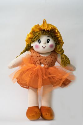 Buy Baby Doll Girl Dolly Net Orange Color by Lovely Toys online