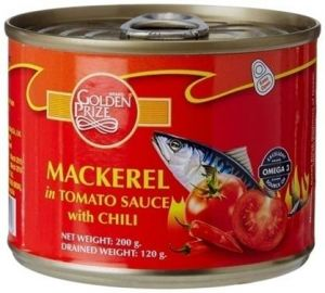 Buy Golden Prize Mackerel In Tomato Sauce W/Chili 200 Gms online