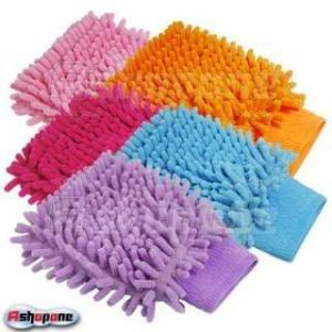 Buy Set Of 5 Car Cleaning Glove Cloth Micro Fibre Hand Wash online