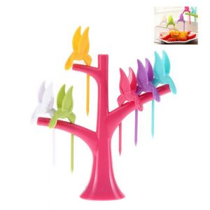 Buy Futaba Bird Fruit Fork Set - Rose Pink online