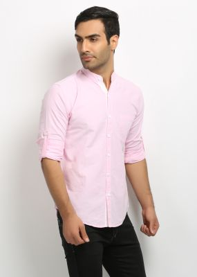 61986977 Buy Nick&jess Mens Pink Mandarin Collar Shirt Online   Best Prices ...