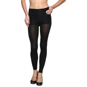 Buy Wetex Premium Womens Opaque Ankle Free Stockings Free Size (product Code - 80 D Leggings- Black) online