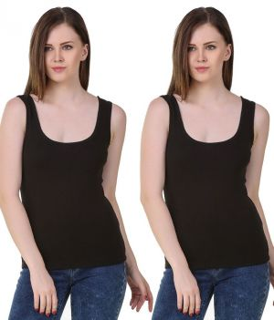 Buy Set Of 2 Lycra Cotton Tanks Inner Sando Vests For Ladies online