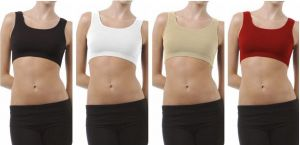 Buy Set Of 4 Sports Comfortable Inner Seamless Beautiful And Stylish Air Bra Free Size online