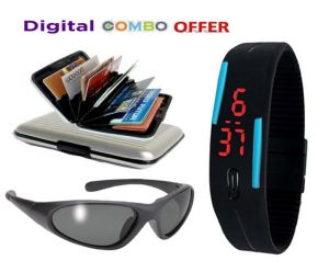 Buy Digital Combo Offers Watch, Glasses And Wallet online