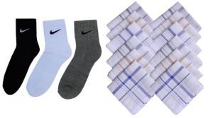 Buy Combo Of Sports Socks Pack Of 3 Pairs With Cotton Handkerchiefs Set Of12pcs online