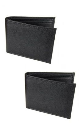 Buy Executive Men''s Black Leather Wallet - Buy 1 Get 1 Free online